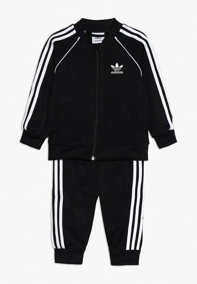 SUPERSTAR SET - Zip-up hoodie - black/white