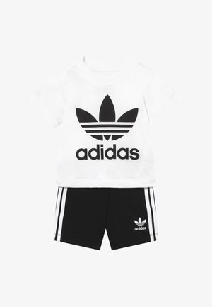 TEE SET - Shortsit - white/black