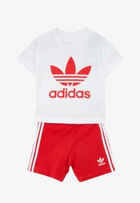 adidas Originals - TEE SET - Short - white/lusred - 4