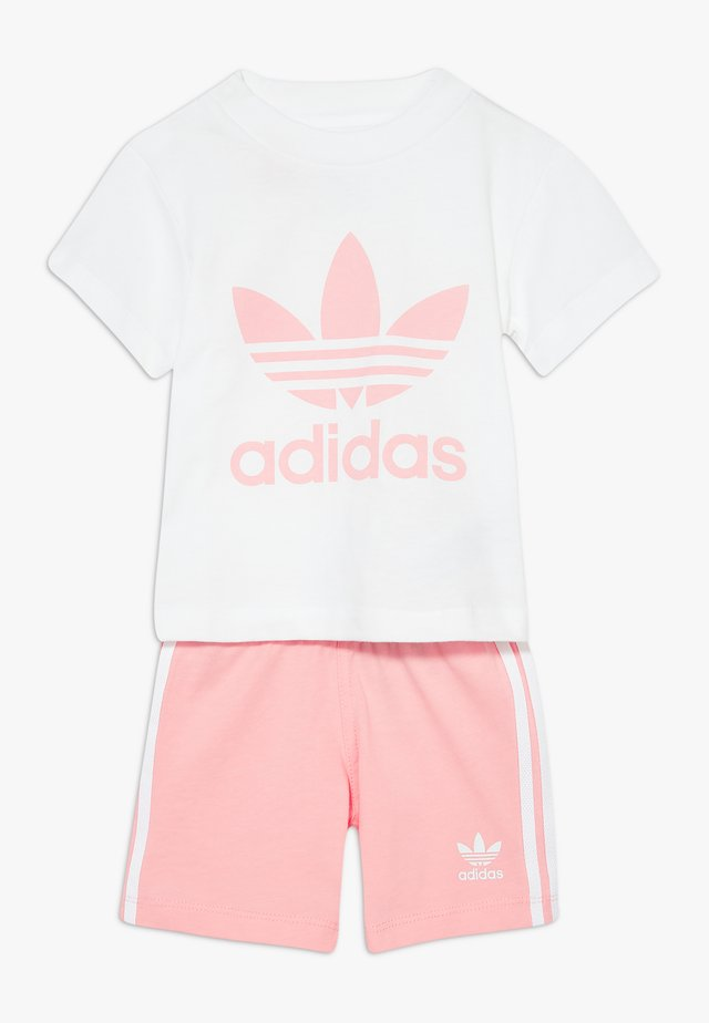 TEE SET - Shorts - white/light pink