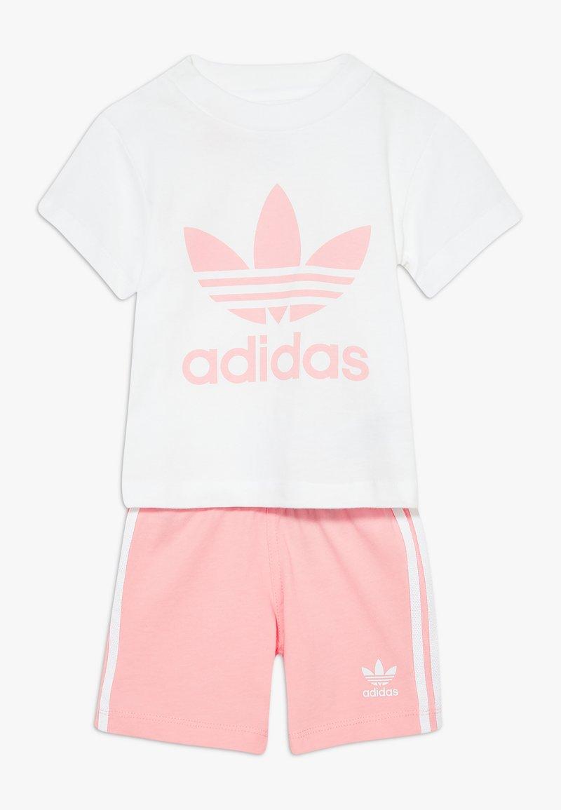 adidas Originals - TEE SET - Kraťasy - white/light pink