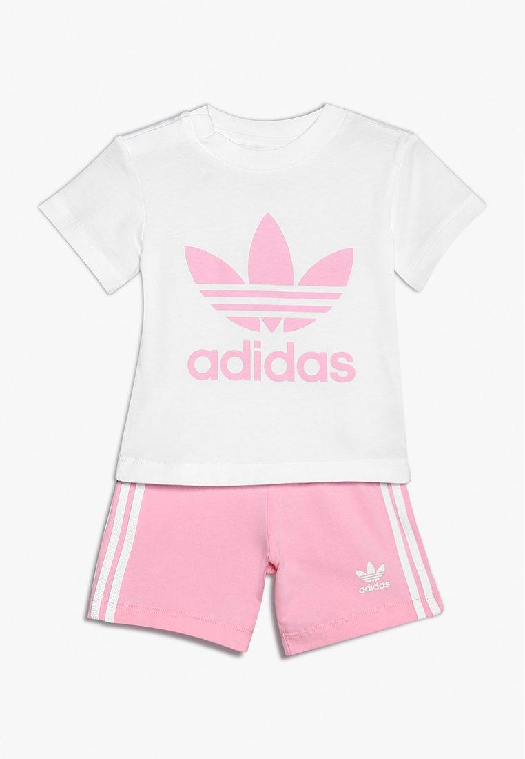 adidas Originals - TEE SET - Shorts - white/light pink