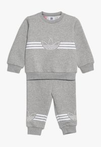 adidas Originals - OUTLINE CREW - Survêtement - grey/white - 0