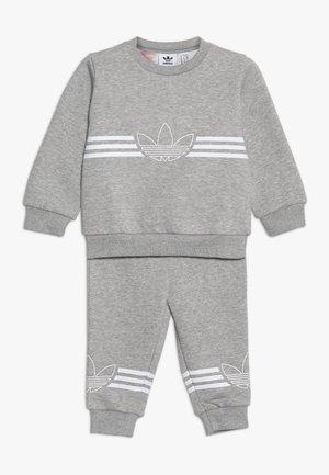 OUTLINE CREW - Trainingsanzug - grey/white