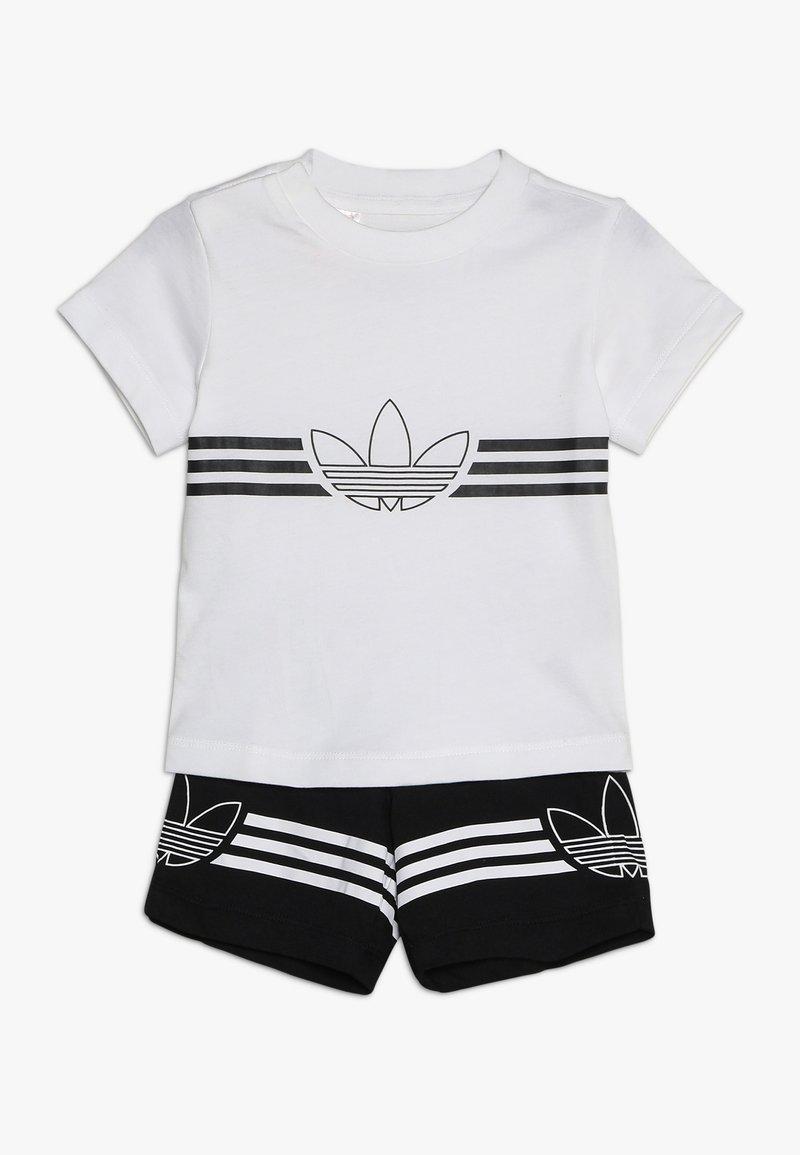 adidas Originals - OUTLINE TEE SET - Print T-shirt - white