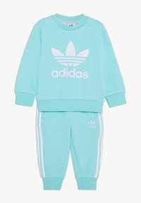 adidas Originals - CREW SET - Sweatshirt - clear aqua/white - 0