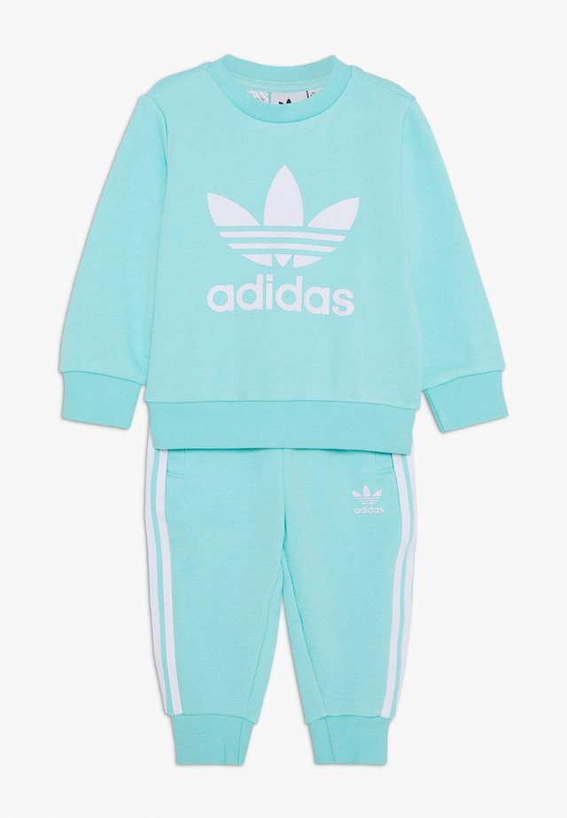 CREW SET - Sweater - clear aqua/white