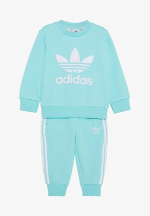 CREW SET - Mikina - clear aqua/white