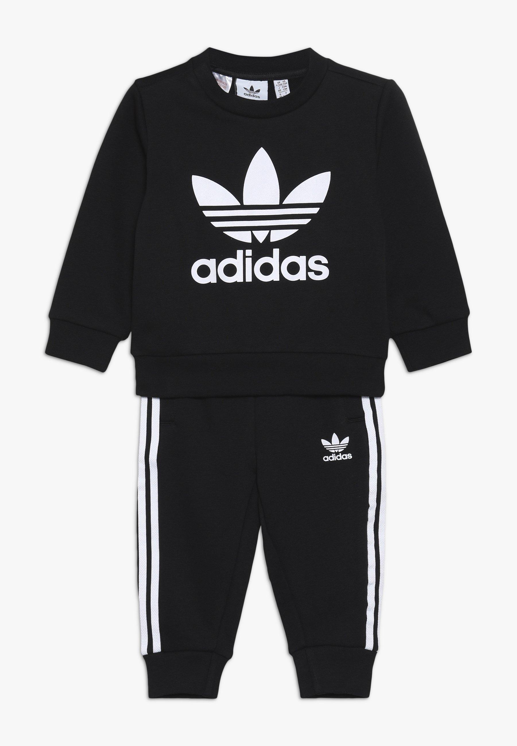 adidas Originals CREW SET Sweater blackwhite Zalando.nl