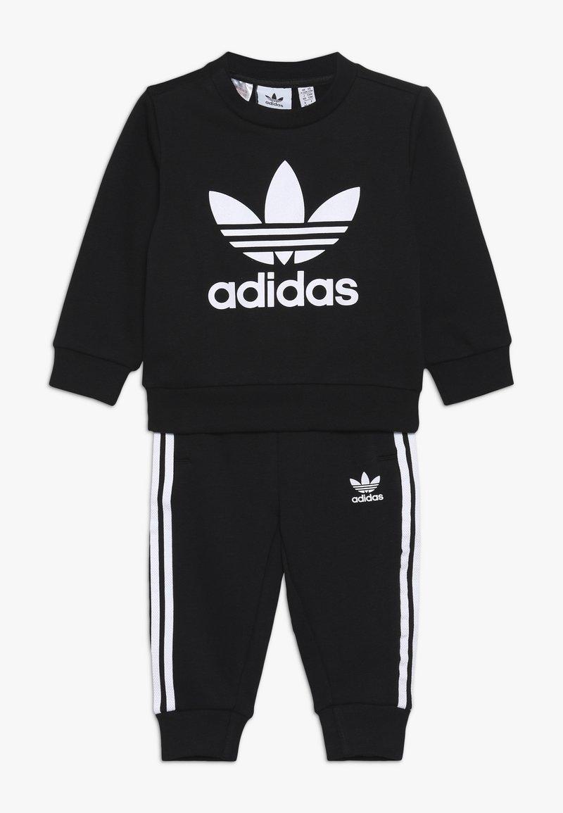adidas Originals - CREW SET - Mikina - black/white