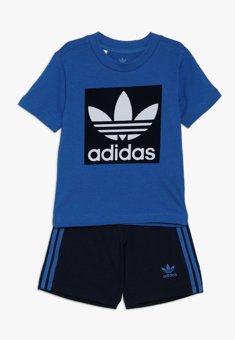 adidas Originals - SHORT TEE SET - Kraťasy - blue/collegiate navy/white