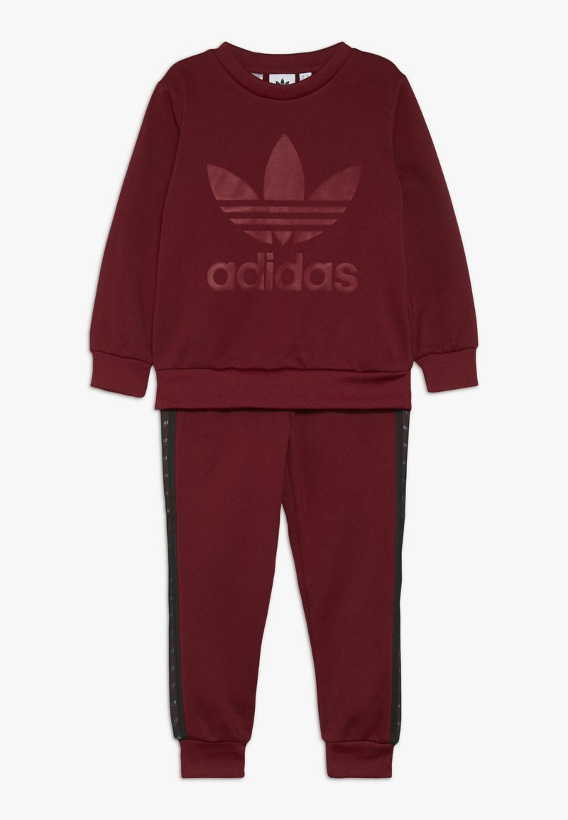 adidas Originals - DEBOSSED CREW SET - Treningsdress - collegiate burgundy