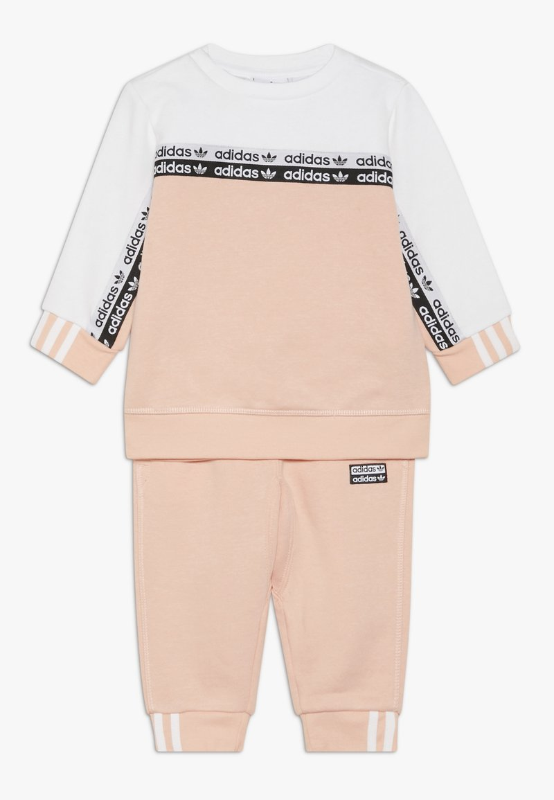adidas Originals - CREW SET - Sweatshirt - glow pink/white