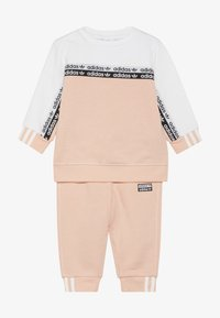 adidas Originals - CREW SET - Sweatshirt - glow pink/white - 3
