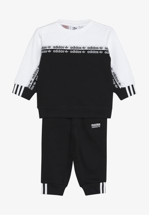 CREW SET - Collegepaita - black/white