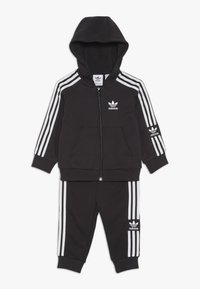 adidas Originals - LOCK UP HOODIE SET - Träningsset - black/white - 0