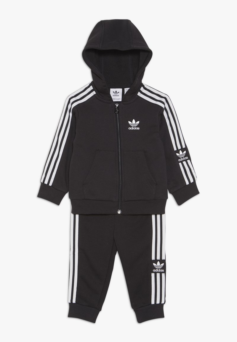 adidas Originals - LOCK UP HOODIE SET - Tracksuit - black/white