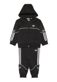 adidas Originals - OUTLINE FZ HOOD - Sudadera con cremallera - black/white - 0