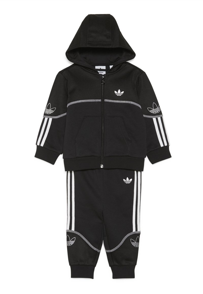 adidas Originals - OUTLINE FZ HOOD - Sudadera con cremallera - black/white