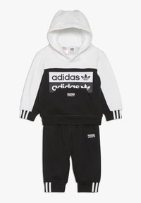 adidas Originals - HOODIE SET - Jersey con capucha - black/white - 0