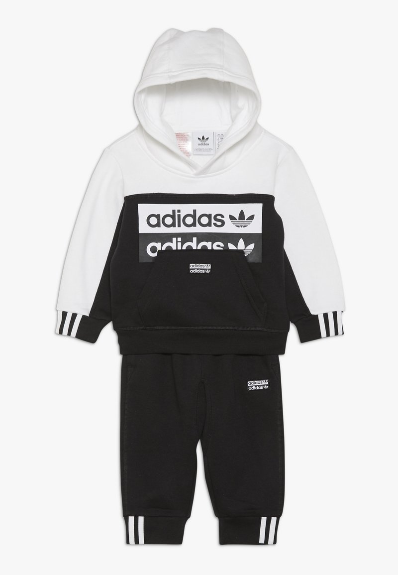 adidas Originals - HOODIE SET - Jersey con capucha - black/white