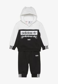 adidas Originals - HOODIE SET - Jersey con capucha - black/white - 3