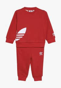adidas Originals - BIG TREFOILCREW SET - Dres - red/white - 3
