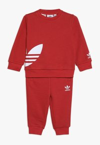 adidas Originals - BIG TREFOILCREW SET - Træningssæt - red/white - 0