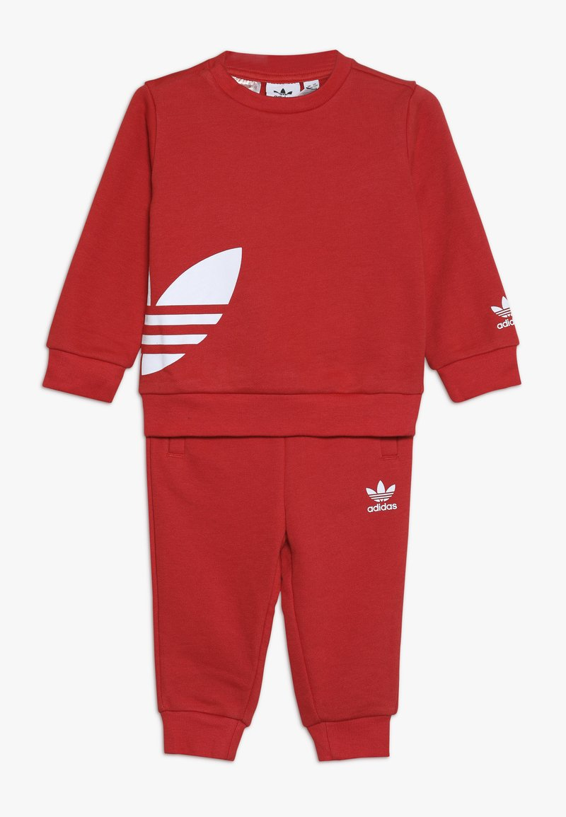 adidas Originals - BIG TREFOILCREW SET - Træningssæt - red/white