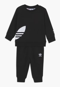 adidas Originals - BIG TREFOILCREW SET - Tuta - black/white - 0