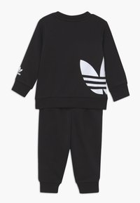 adidas Originals - BIG TREFOILCREW SET - Tuta - black/white - 1
