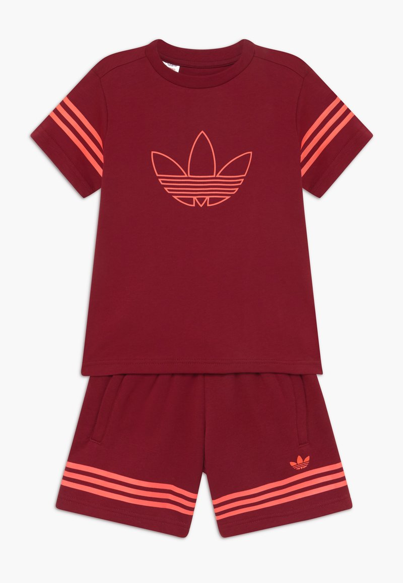 adidas Originals - OUTLINE SET - Trainingsbroek - dark red