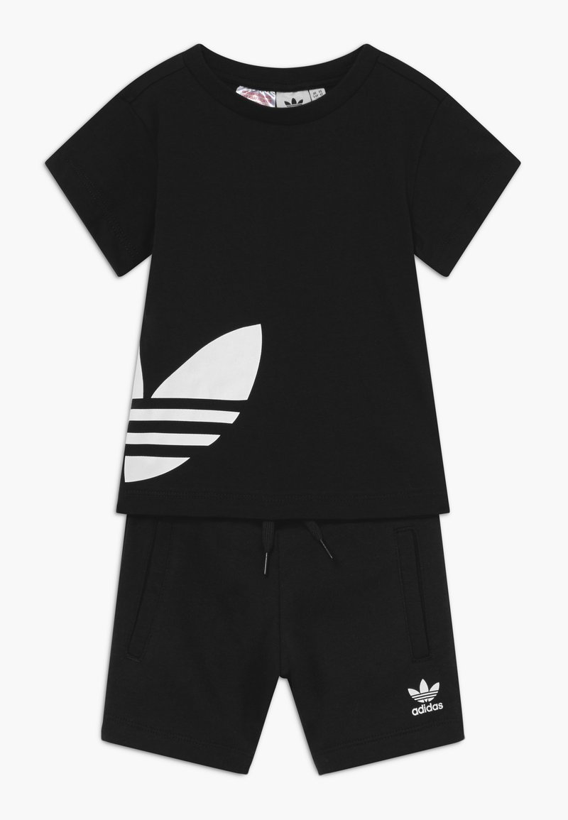 adidas Originals - TREFOIL SET - Trainingsbroek - black/white