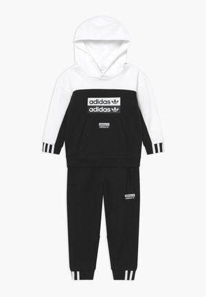 HOODIE SET - Trainingspak - black/white