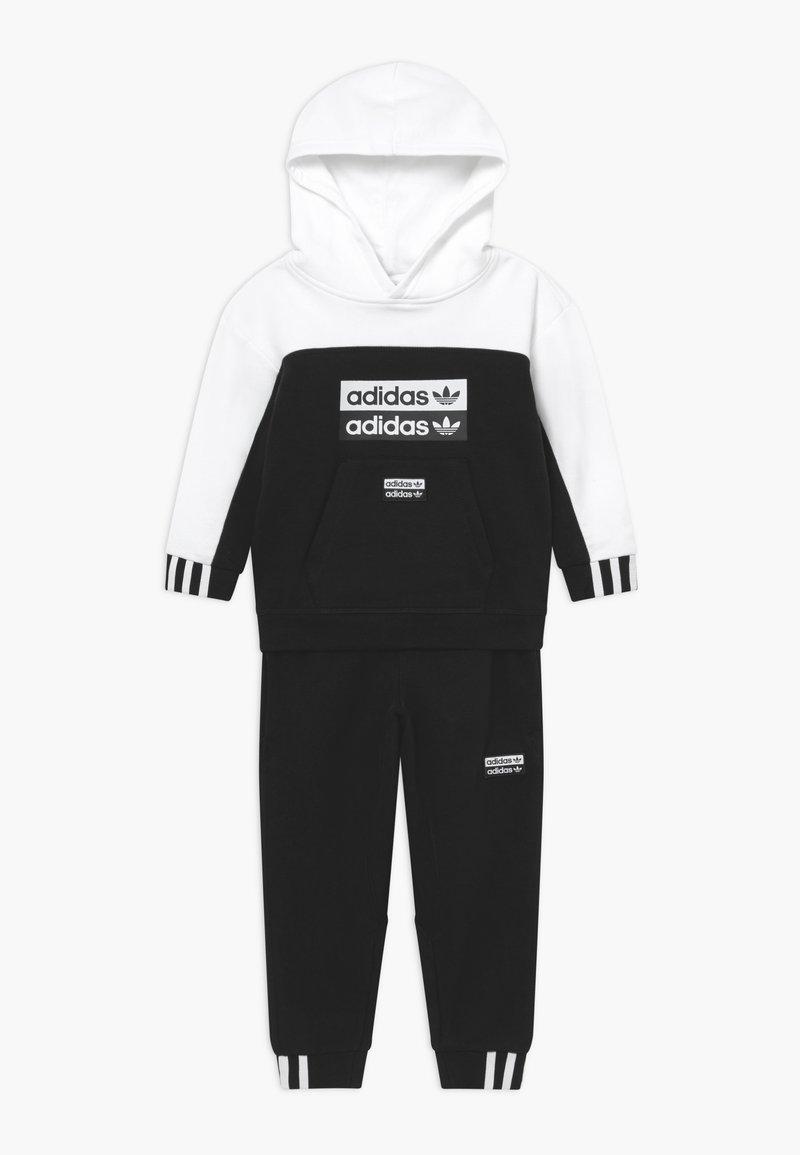 adidas Originals - HOODIE SET - Tracksuit - black/white