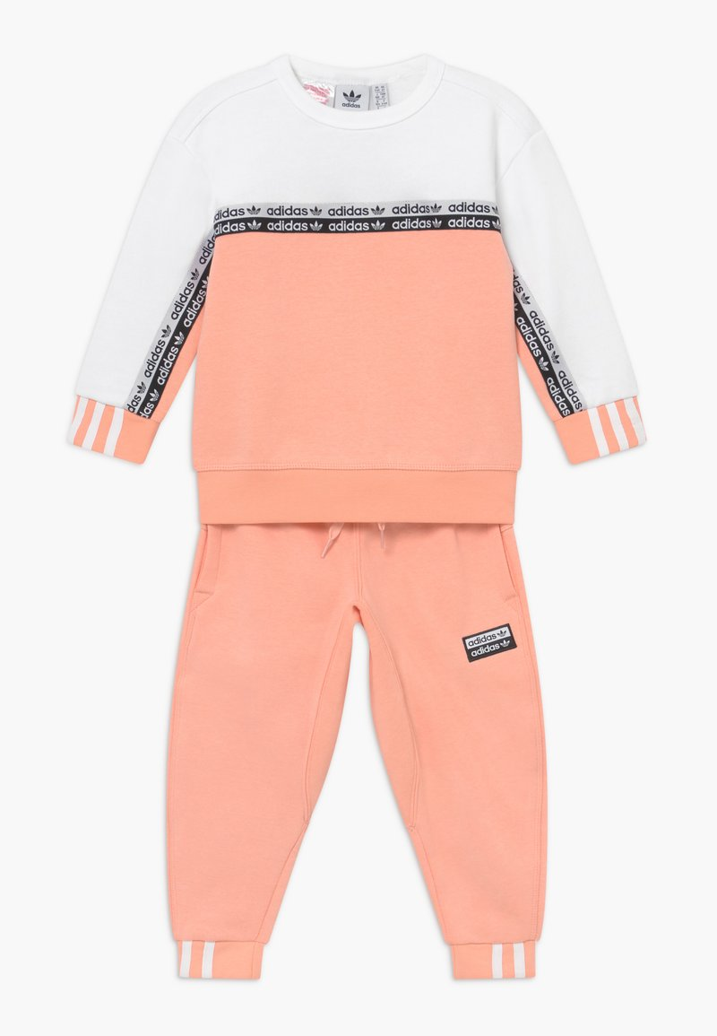adidas Originals - CREW SET - Survêtement - pink/white