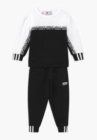 adidas Originals - CREW SET - Træningssæt - black/white - 0