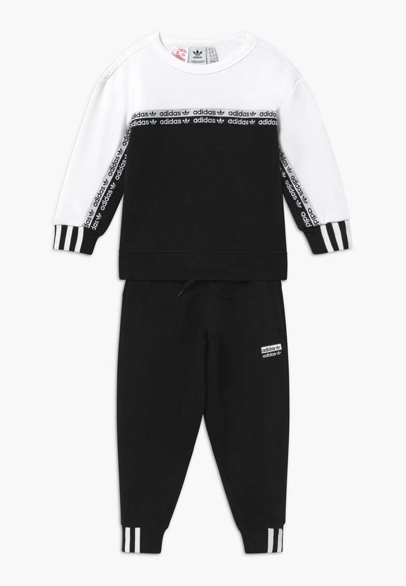adidas Originals - CREW SET - Træningssæt - black/white