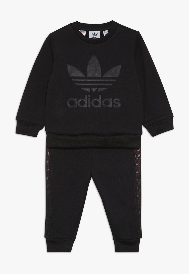adidas Originals - DEBOSSED CREW SET - Chándal - black
