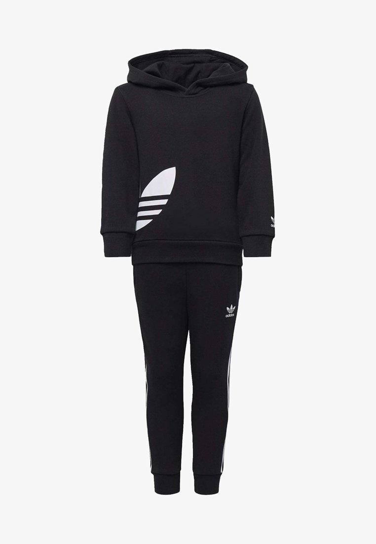 adidas Originals - BIG TREFOIL HOODIE SET - Tuta - black