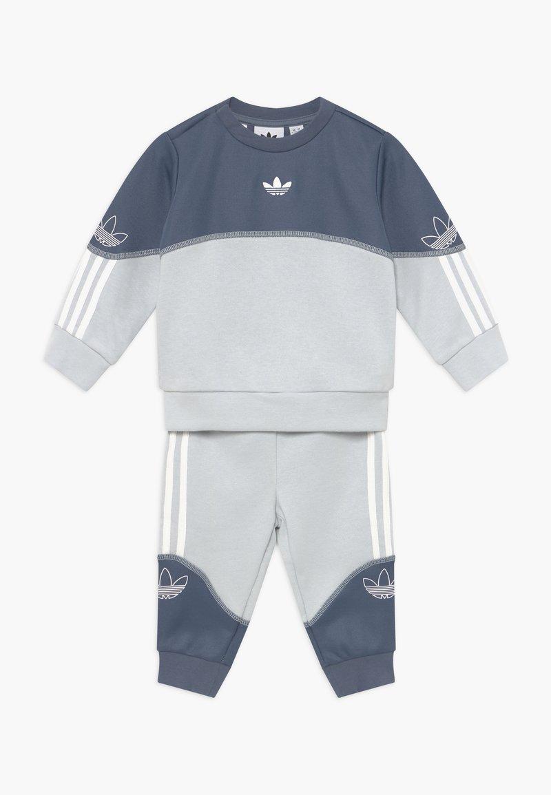 adidas Originals - OUTLINE CREW SET - Trainingspak - grey/white