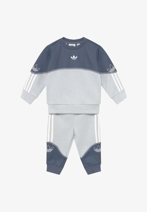 OUTLINE CREW SET - Tracksuit - grey/white