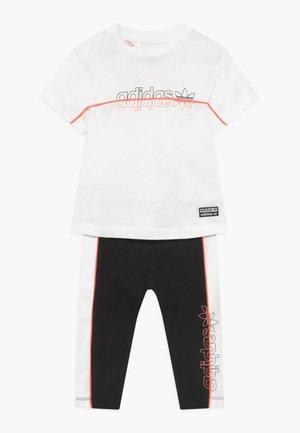 SET - Leggings - Trousers - white