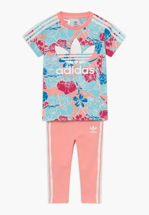 TEE DRESS SET - Leggings - Trousers - pink