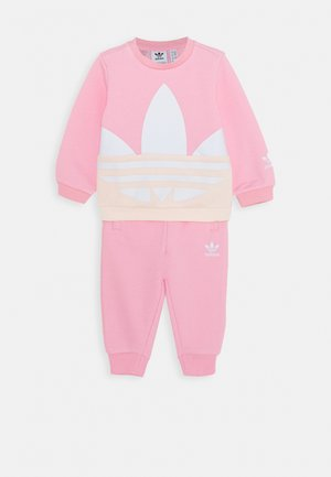 BIG TREFOILCREW SET - Mikina - pink/white