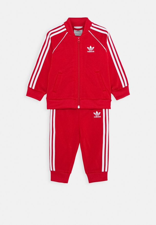 TRACKSUIT SET - Trainingspak - scarlett/white