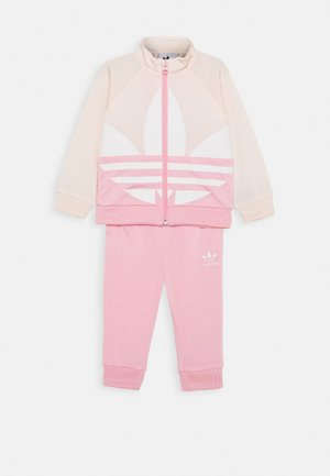 BIG TREFOIL SET - Training jacket - pink/white