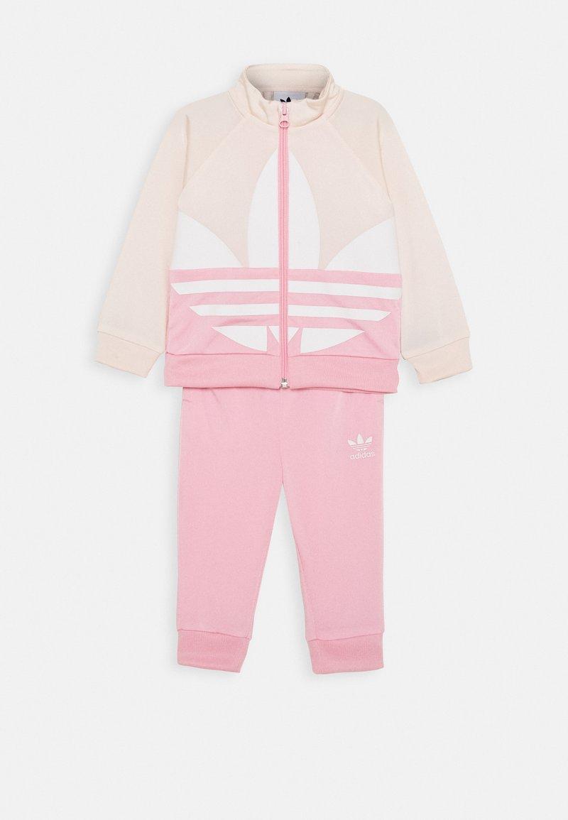 adidas Originals - BIG TREFOIL SET - Chaqueta de entrenamiento - pink/white
