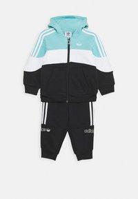 adidas Originals - HOODIE SET - Sudadera con cremallera - bluspi/white/black - 0
