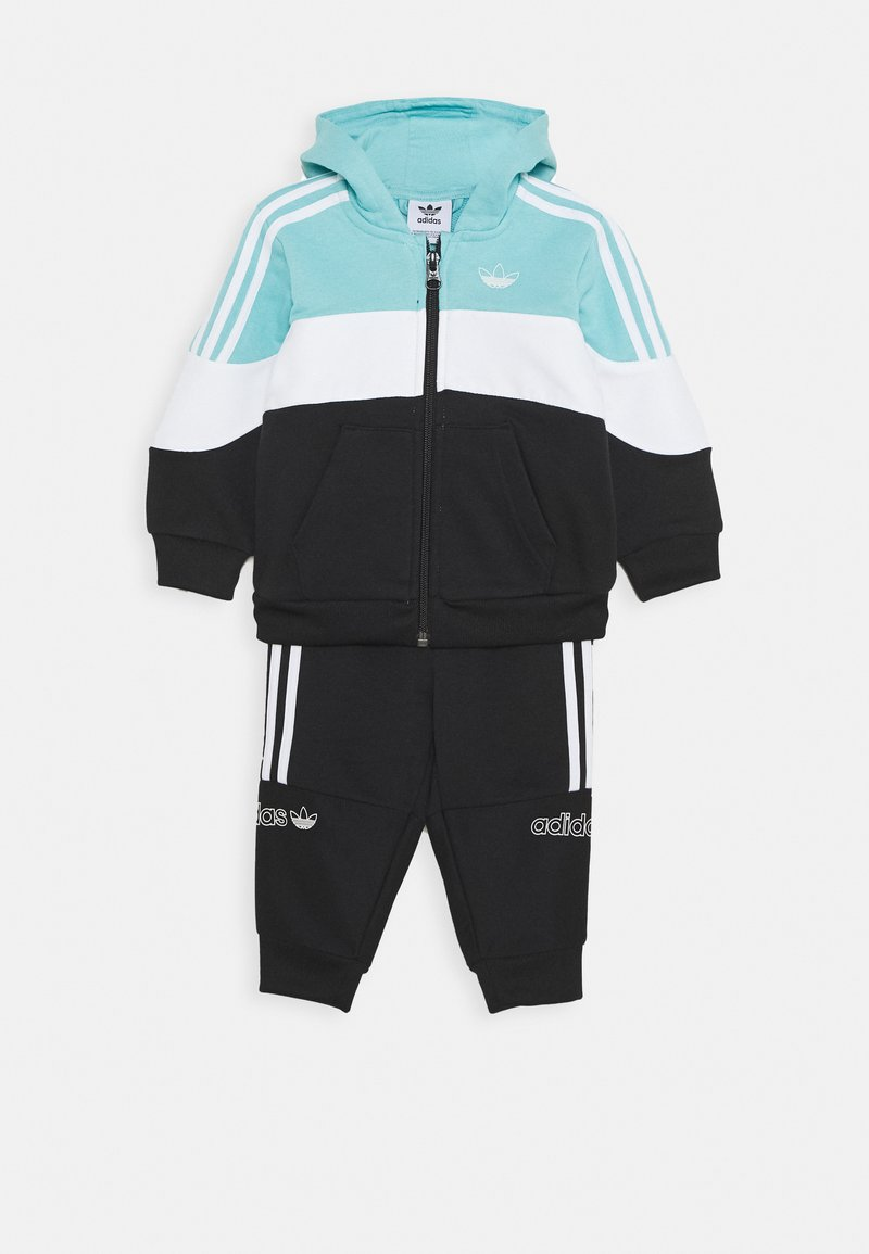 adidas Originals - HOODIE SET - Sudadera con cremallera - bluspi/white/black